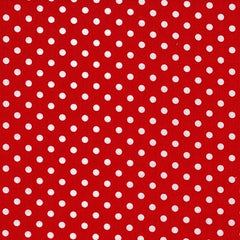 Polka Dots Red Cotton Fabric