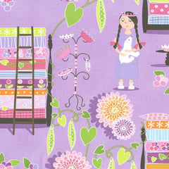 Princess and the Pea Cotton Fabric Remnant
