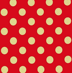 Christmas Fabric Metallic Dot Cherry