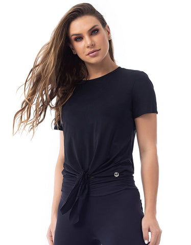 Blusa Dry Fit Manga Curta Pleasure Preto