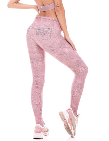 Legging Fusô Empina Bumbum Fact Cobra Rosa