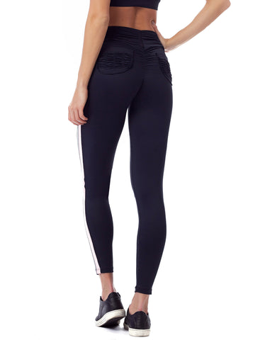 Legging Fusô Empina Bumbum Action Fact Preto Com Cinza