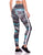 Legging Fusô Empina Bumbum Golden Fact Feather Azul