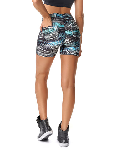 Shorts Empina Bumbum Fact Feather Azul