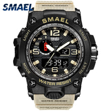 Load image into Gallery viewer, Men Military Watch 50m Waterproof Wristwatch LED Quartz Clock Sport Watch Male relogios masculino 1545 Sport Watch Men S Shock