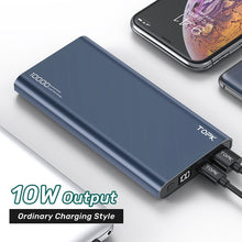 Load image into Gallery viewer, TOPK Power Bank 10000mAh Portable Charger LED External Battery PowerBank PD Two-way Fast Charging PoverBank for iPhone Xiaomi mi
