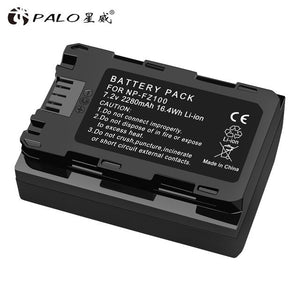 PALO 1-4pcs Battery NP-FZ100 NP FZ100 digital Camera Battery for Sony A9 A7R A7 ILCE-9 ILCE9 ILCE-7RM3 ILCE-7M3 Mark III camera