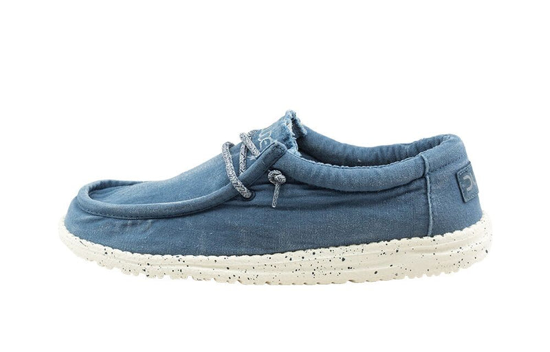 Hey Dude Men's Wally L Washed Steel Blue