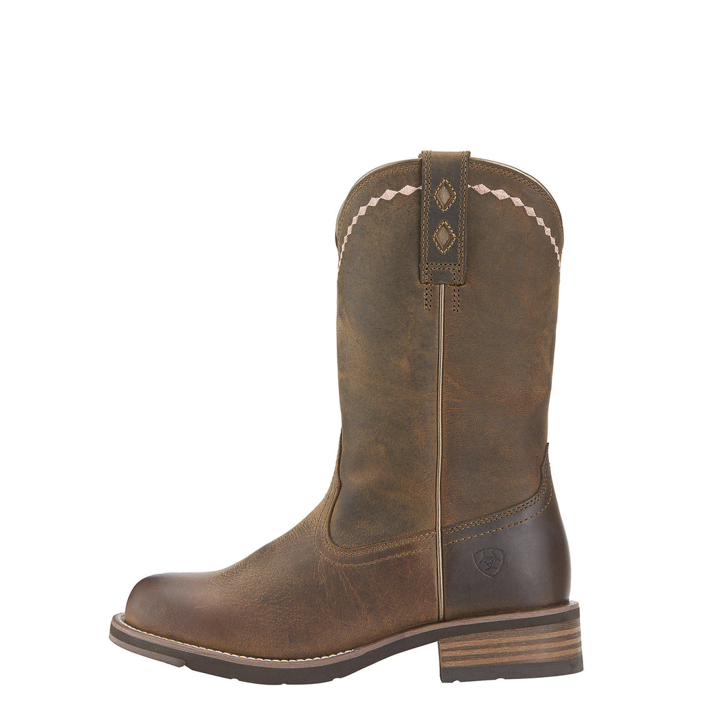 Ariat Women's Unbridled Roper Western Boot Distressed Brown