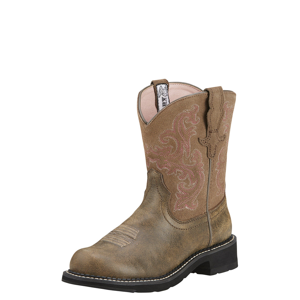 Ariat Women's Fatbaby II Western Boot Brown Bomber
