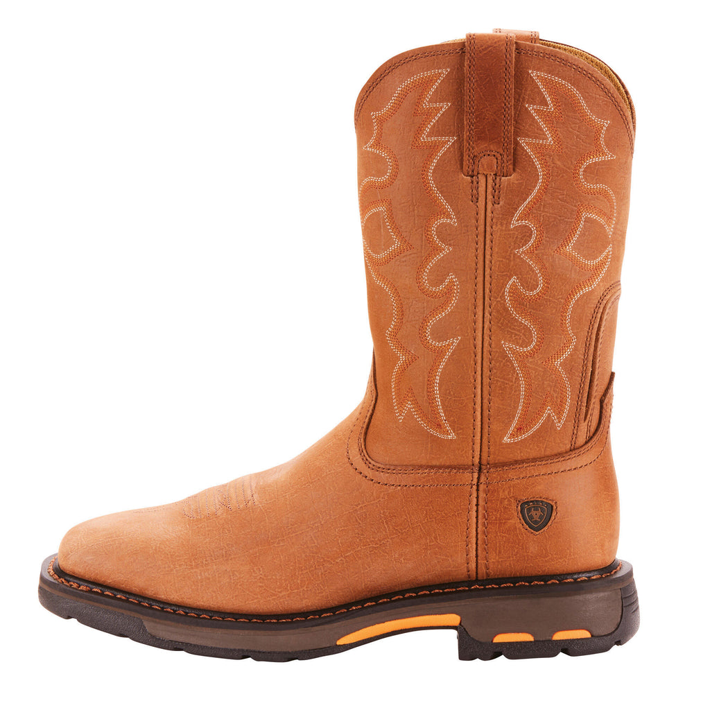 Ariat Men's WorkHog Wide Square Toe Work Boot Rugged Bark