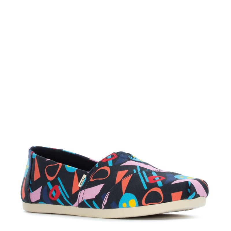 Toms Women's Alpargata Abstract Geometric Navy/Mid Century Print