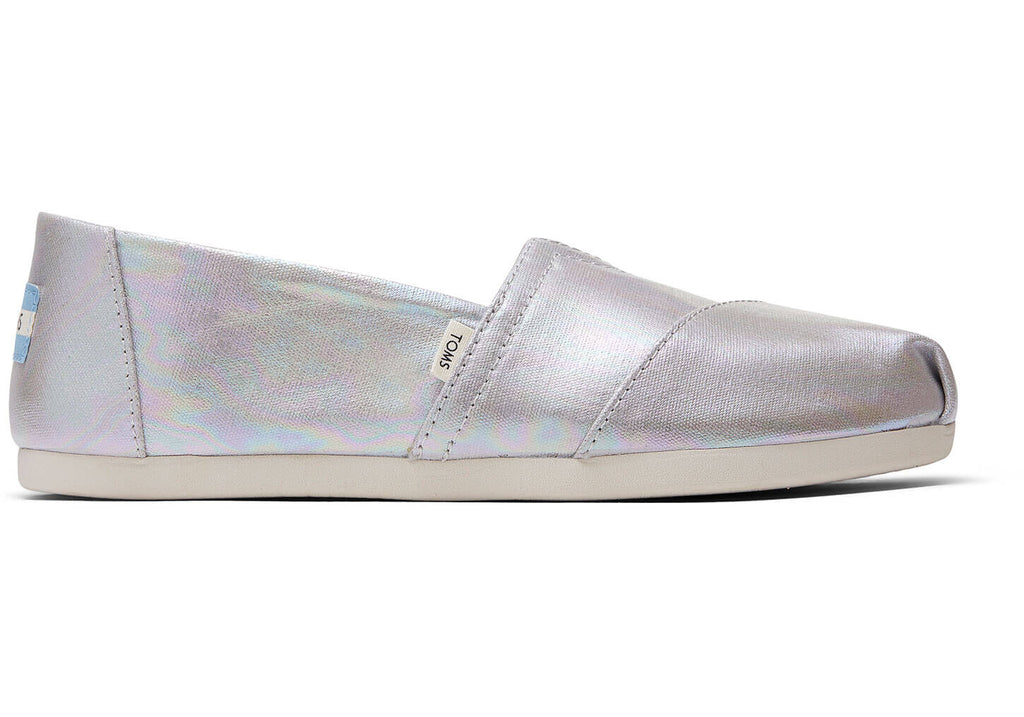 Toms Women's Classics Drizzle Grey Metallic Canvas