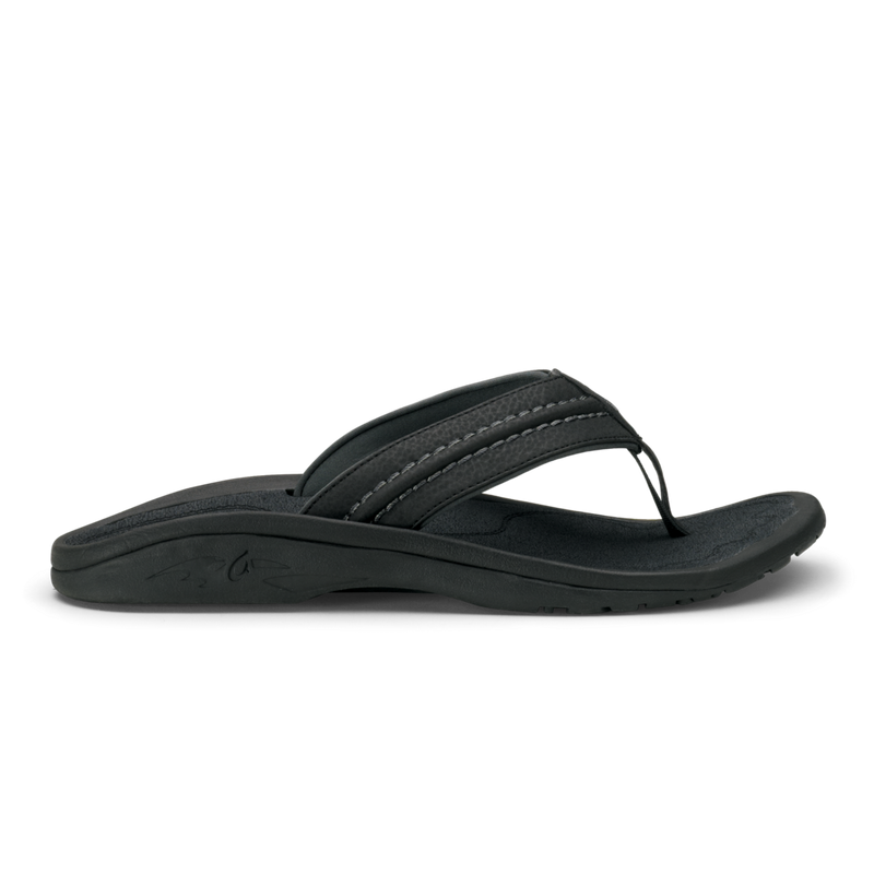 Olukai Men's Hokua Sandals Black/Dark Shadow
