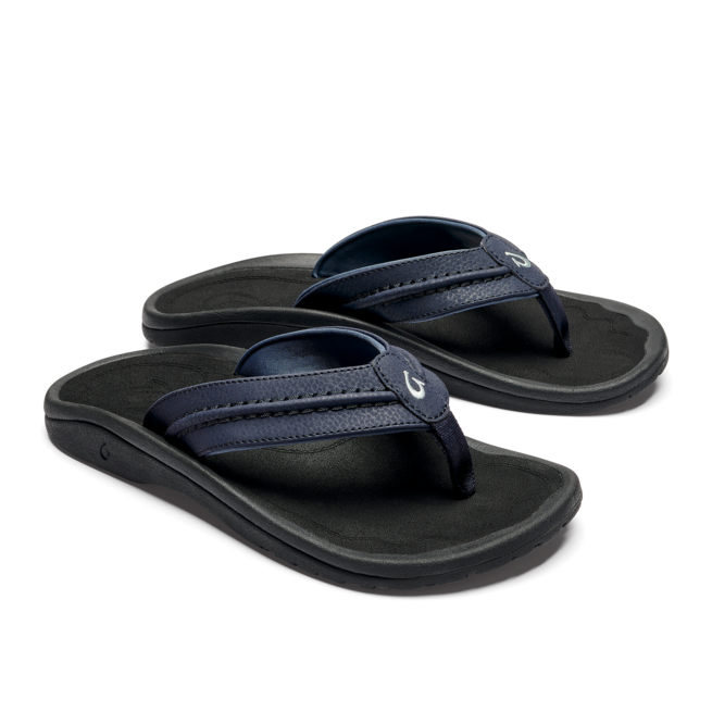 Olukai Men's Hokua Sandals Blue Depth/Black