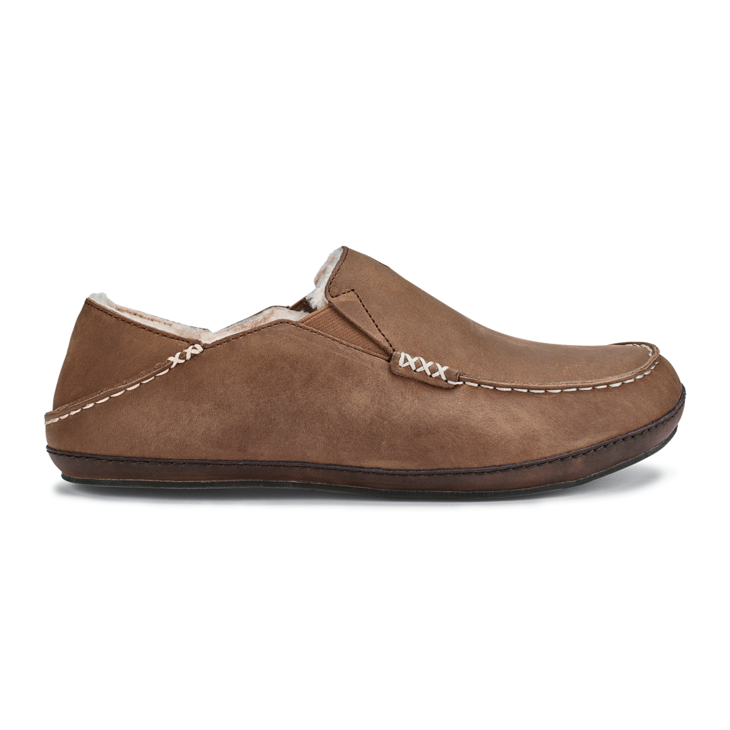 Olukai Men's Moloa Slipper Toffee/Dark Wood