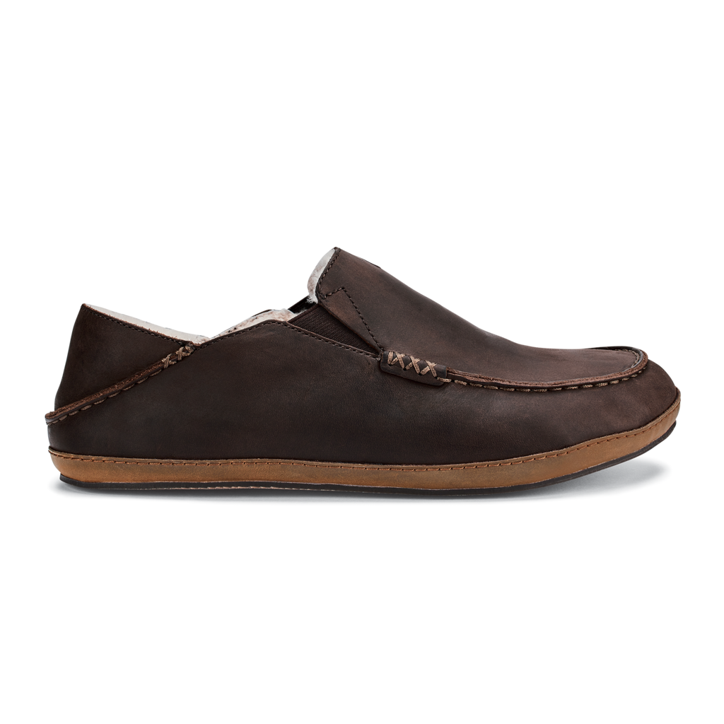 Olukai Men's Moloa Slipper Dark Wood