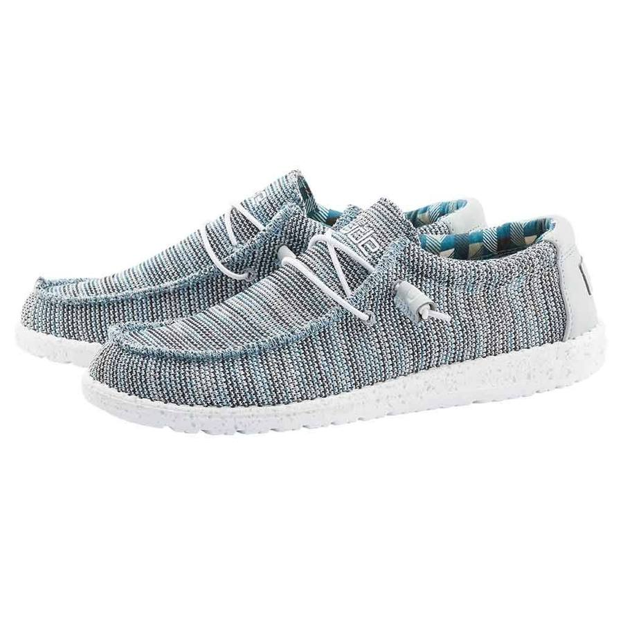 Hey Dude Men's Wally Sox Funk Ice Gray