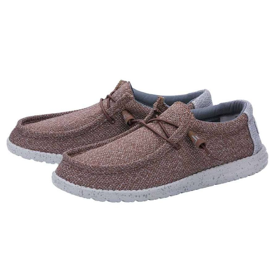 Hey Dude Men's Wally Sox Brown Grey