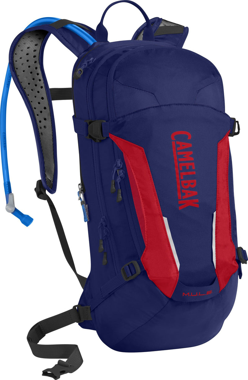 CamelBak M.U.L.E Cycling Hydration Pack Pitch Blue/Racing Red