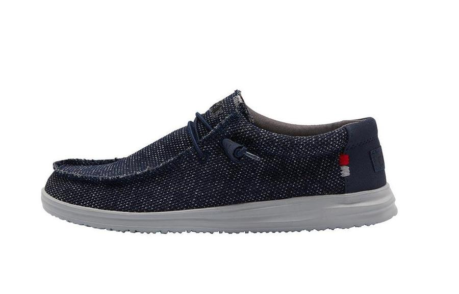 Hey Dude Men's Wally Free Navy Grey