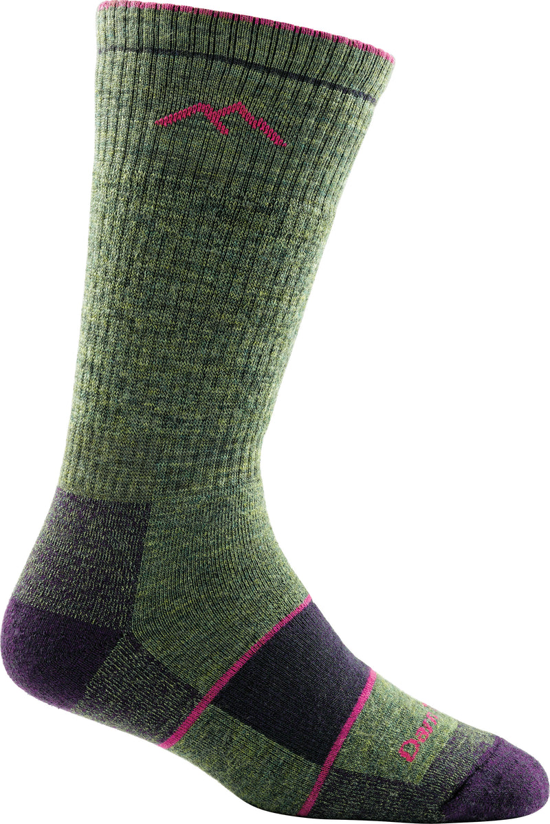 Darn Tough Women's Hiker Boot Sock Full Cushion Moss Heather