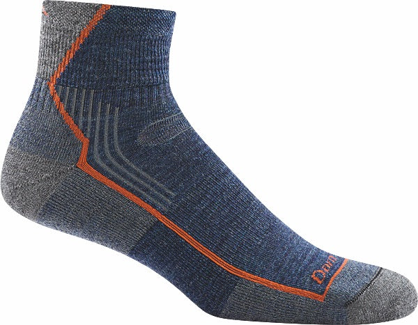 Darn Tough Men's Hiker 1/4 Sock Cushion Denim