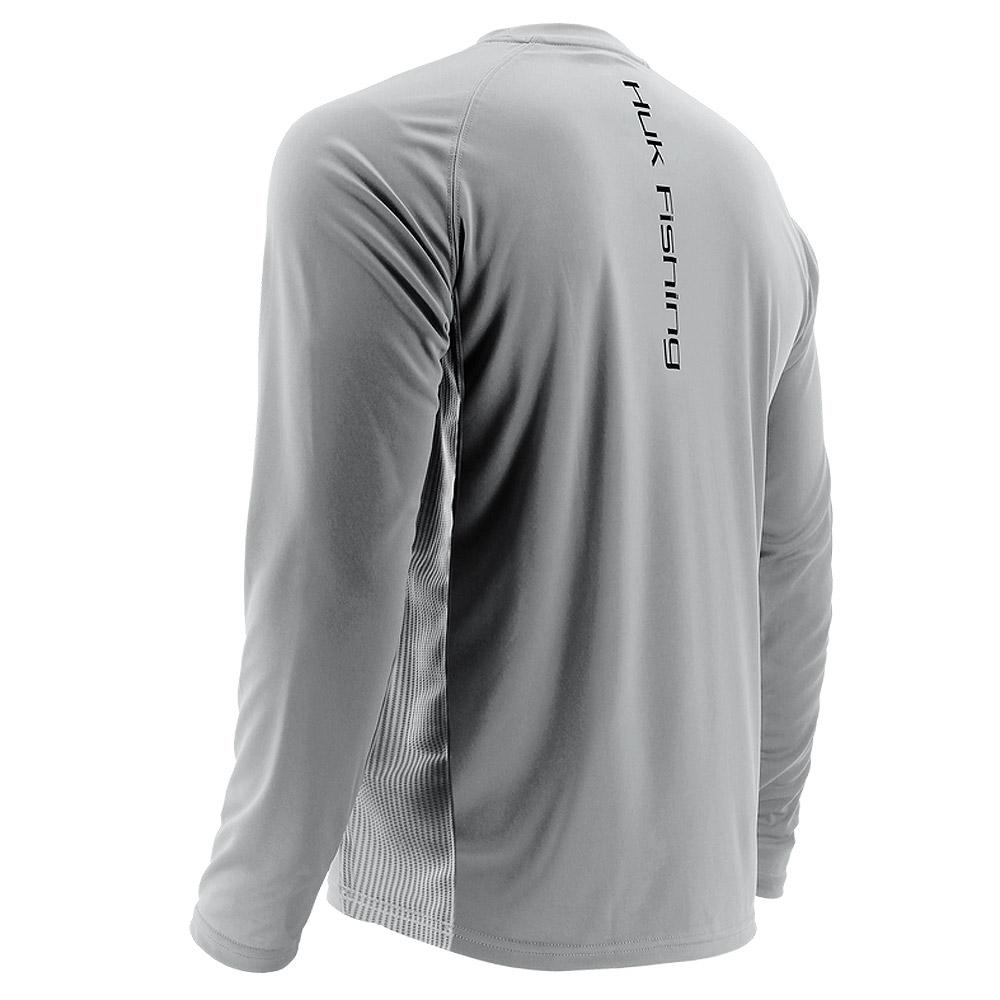 Huk Performance Vented Long Sleeve Gray