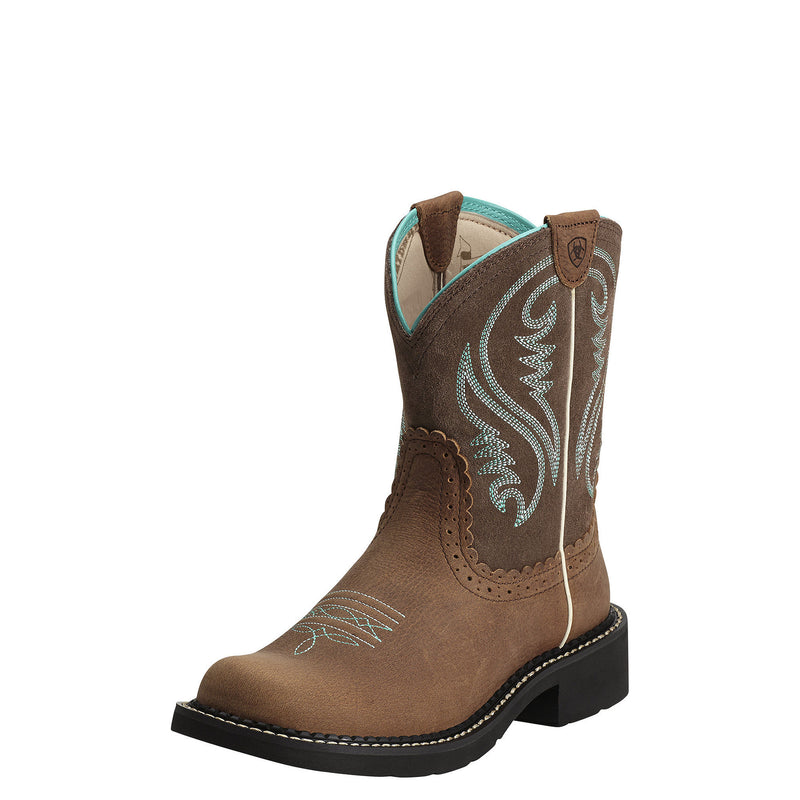 Ariat Women's Fatbaby Heritage Western Boot Tan Rowdy
