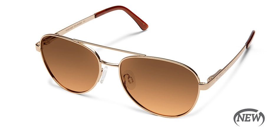 Suncloud Callsign Medium Fit Rose Gold/Polarized Brown Gradient