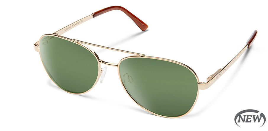 Suncloud Callsign Medium Fit Gold/Polarized Gray Green