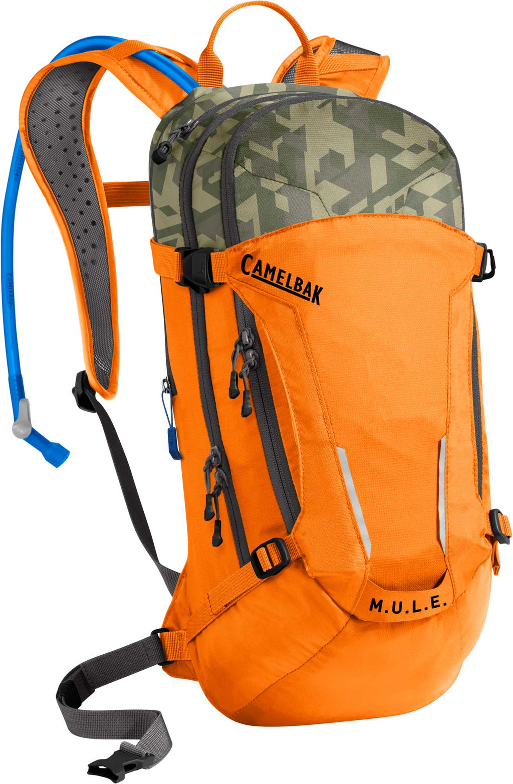 CamelBak M.U.L.E Mountain Biking Hydration Pack Russel Orange/Camleflage