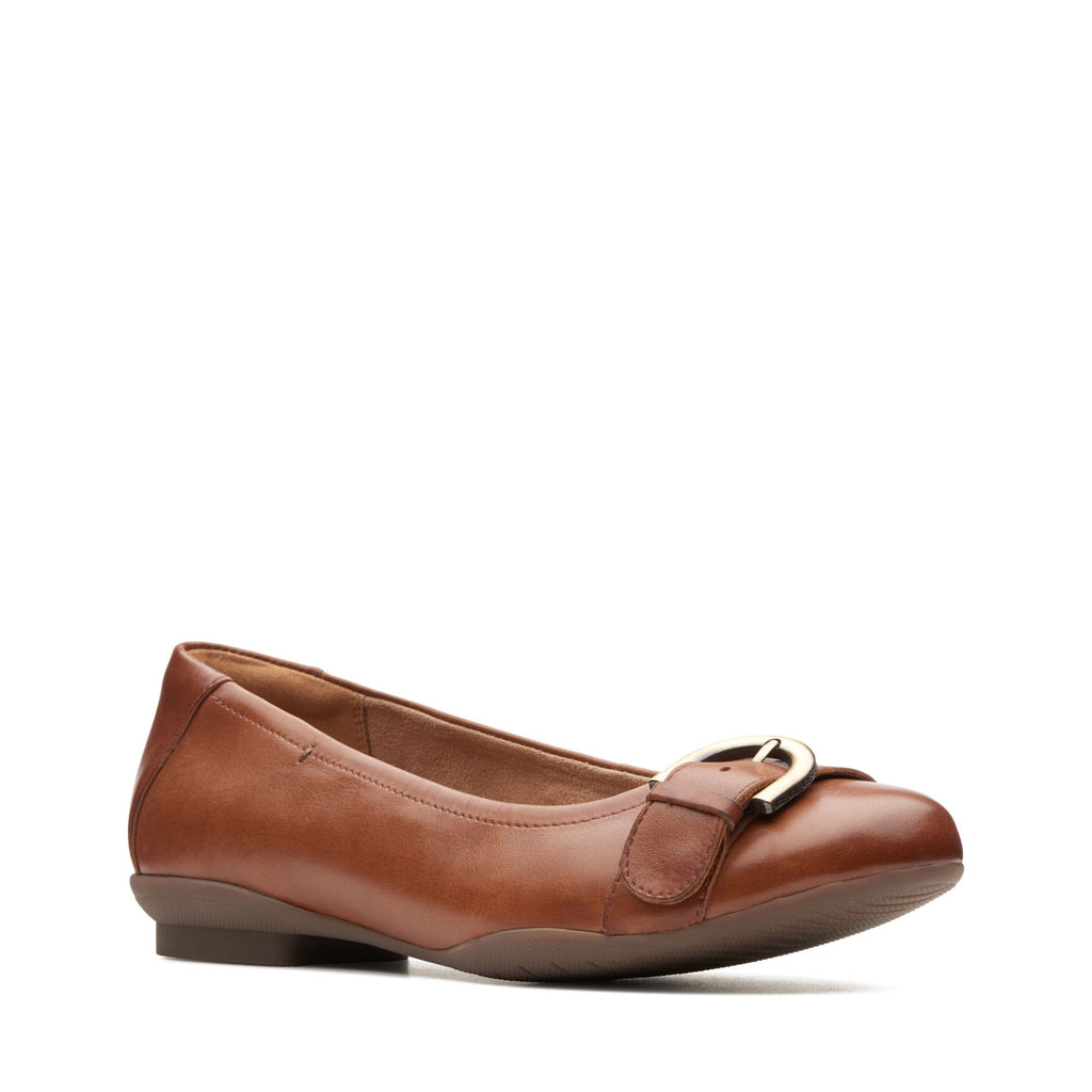 Clarks Neenah Lark Women's Dark Tan Leather