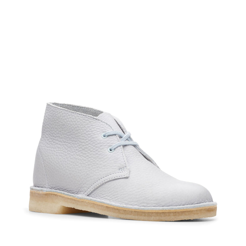 Clarks Women's Desert Boot Light Blue Leather