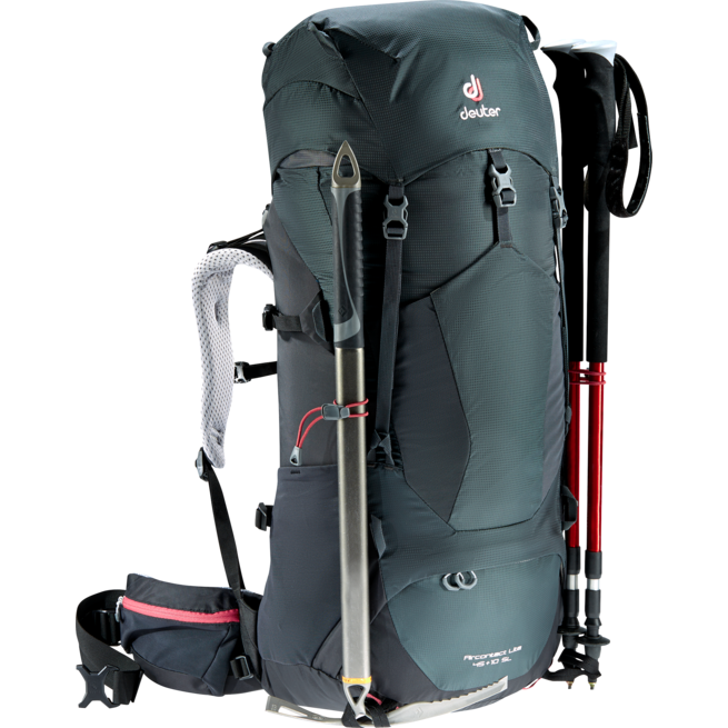 Deuter Aircontact Lite 45 + 10 SL Trekking Backpack Graphite/Black