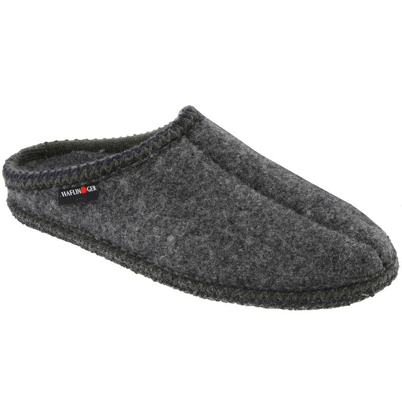 Haflinger Unisex AS Classic Woolfelt Slipper Grey