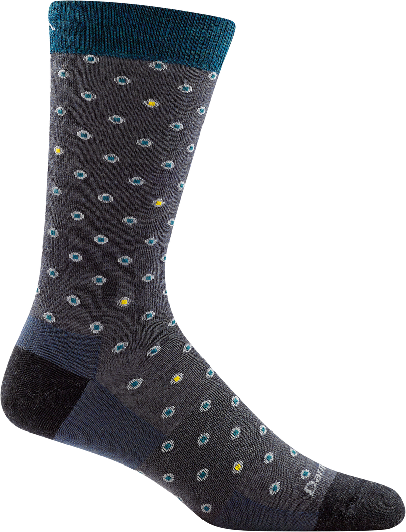 Wrightsock Men's Coolmesh II Socks Tab Steel Gray/Neon Green