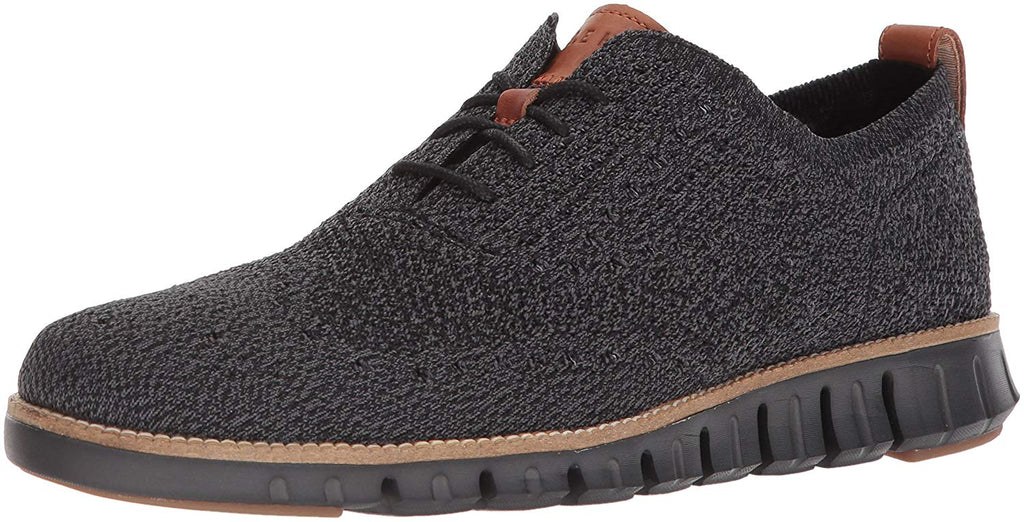 Cole Haan Men's ZerøGrand Wingtip Oxford Black-Magnet Stitchlite