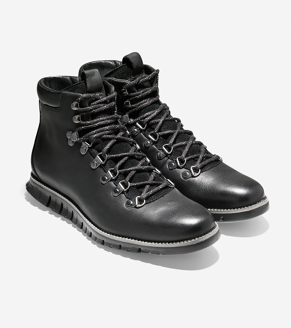 Cole Haan Men's ZERØGRAND Hiker Boots Black