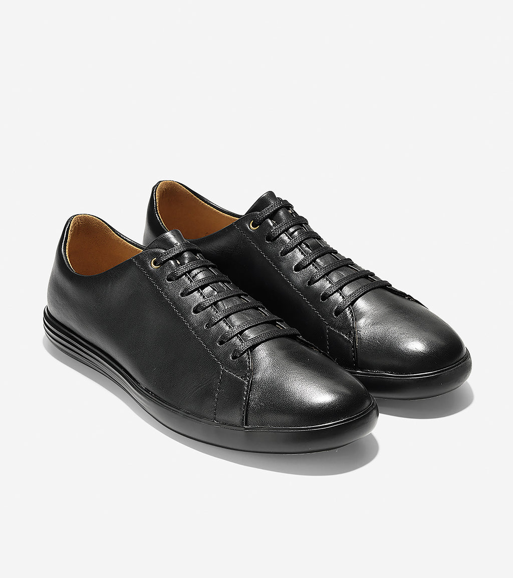 Cole Haan Men's Grand Crosscourt II Black Leather