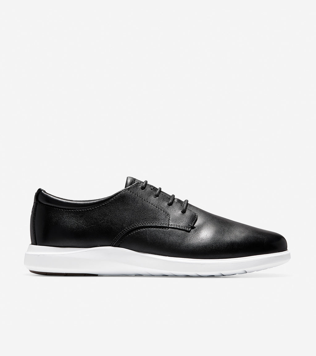 Cole Haan Men's Grand Plus Essex Wedge Oxford Black/Optic White