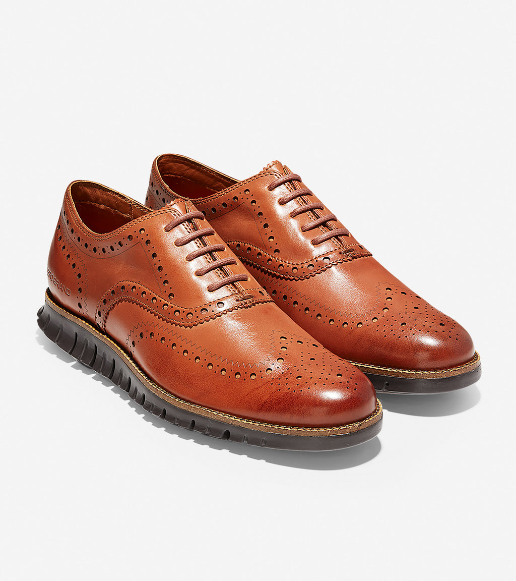 Cole Haan Men's ZERØGRAND Wingtip Oxford British Tan/Java