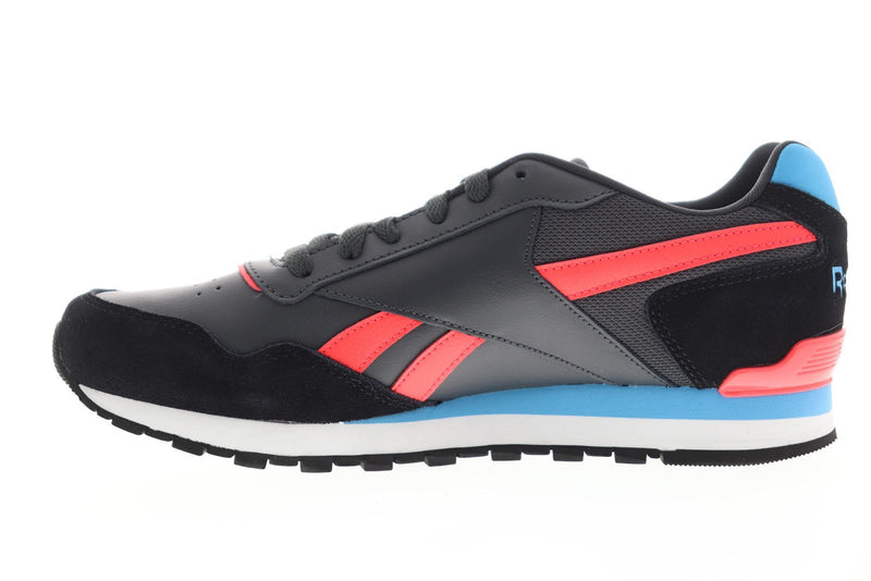 Reebok Men's Classic Harman Run Gray/Black/Neon Red