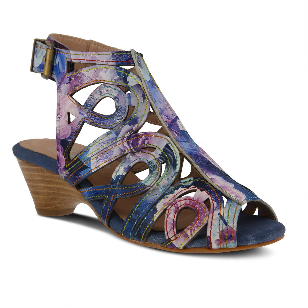 Spring Step Women's Flourisha Blue Multi Leather