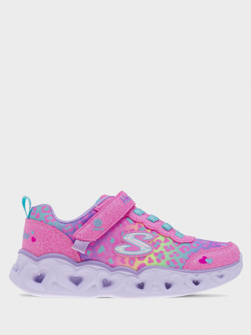Skechers Girl's S Lights: Heart Lights Pink/Multi