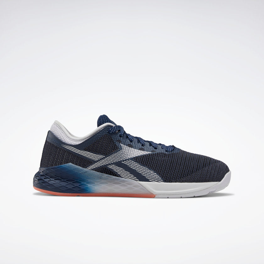 Reebok Women's Nano 9 Training Shoes Collegiate Navy/Sterling Grey/Vivid Orange
