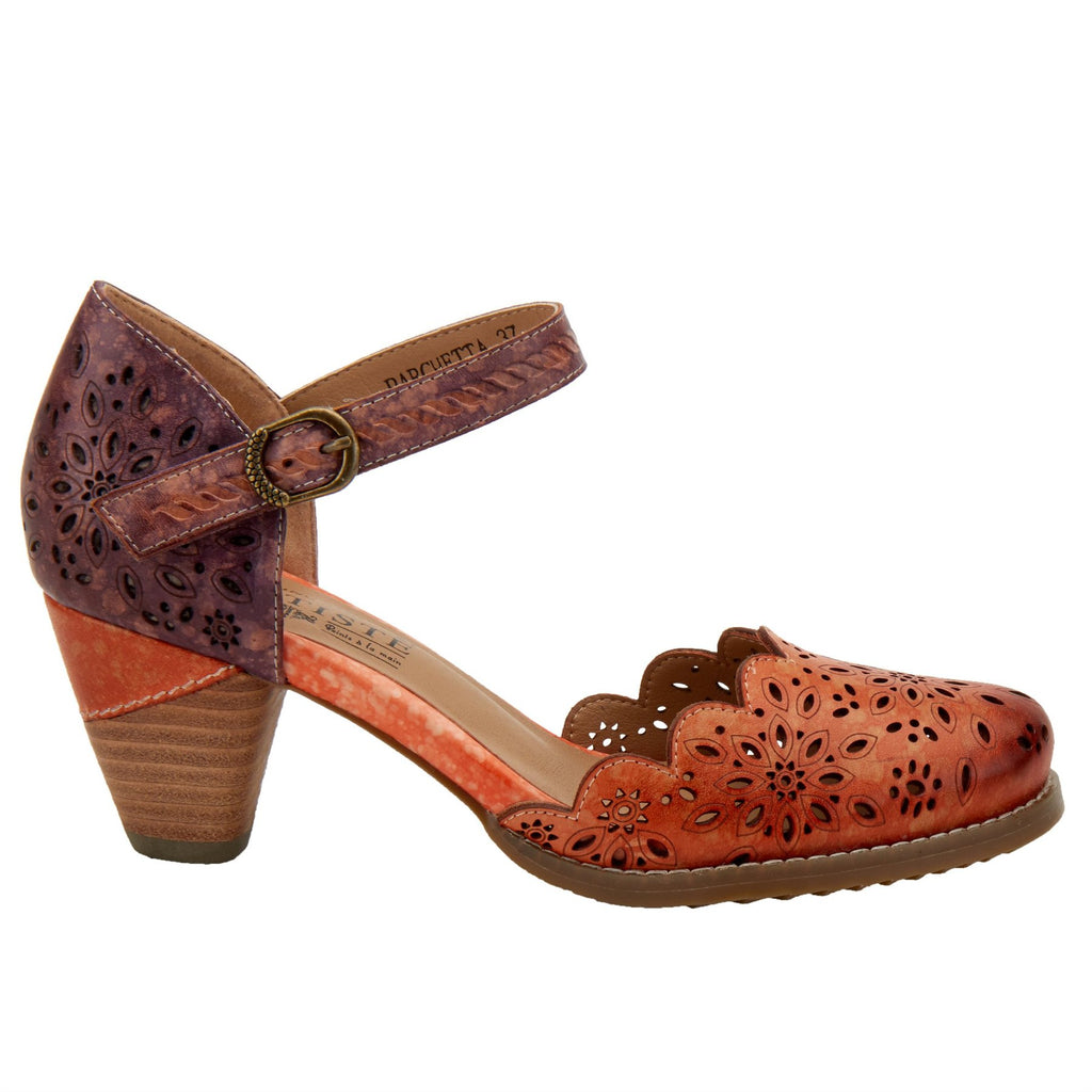 Spring Step L'Artiste Women's Parchetta Orange Multi Leather