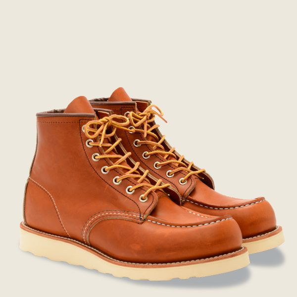 Red Wings Men's Classic MOC 6 Inch Boot Brown