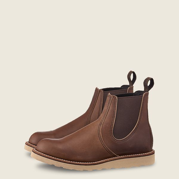 Red Wings Men's Classic Chelsea Boot Amber