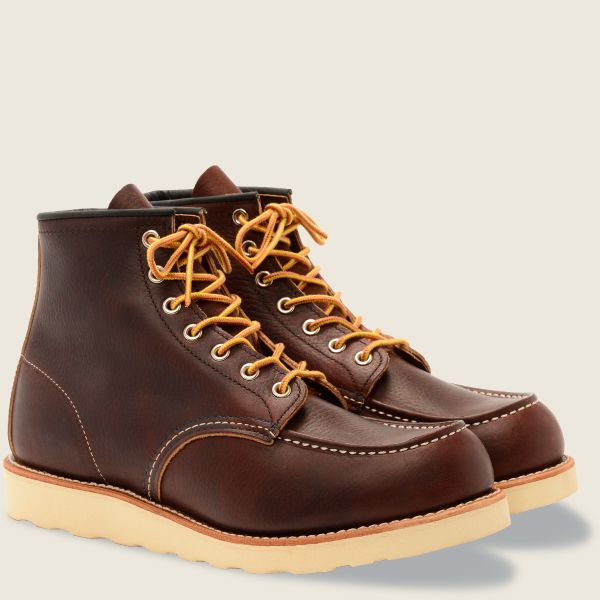 Red Wings Men's Classic MOC 6 Inch Boot Briar